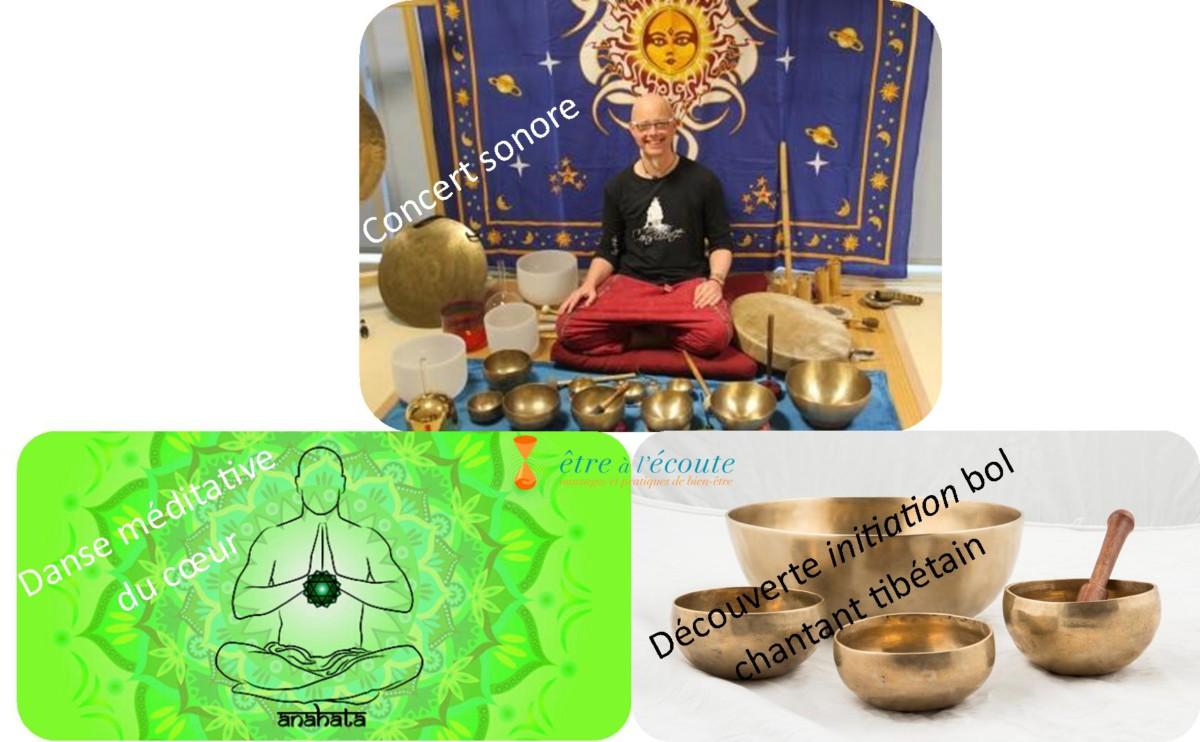 Conscience Vibratoire : Danse méditative – Atelier bol chantant – Concert sonore méditatif