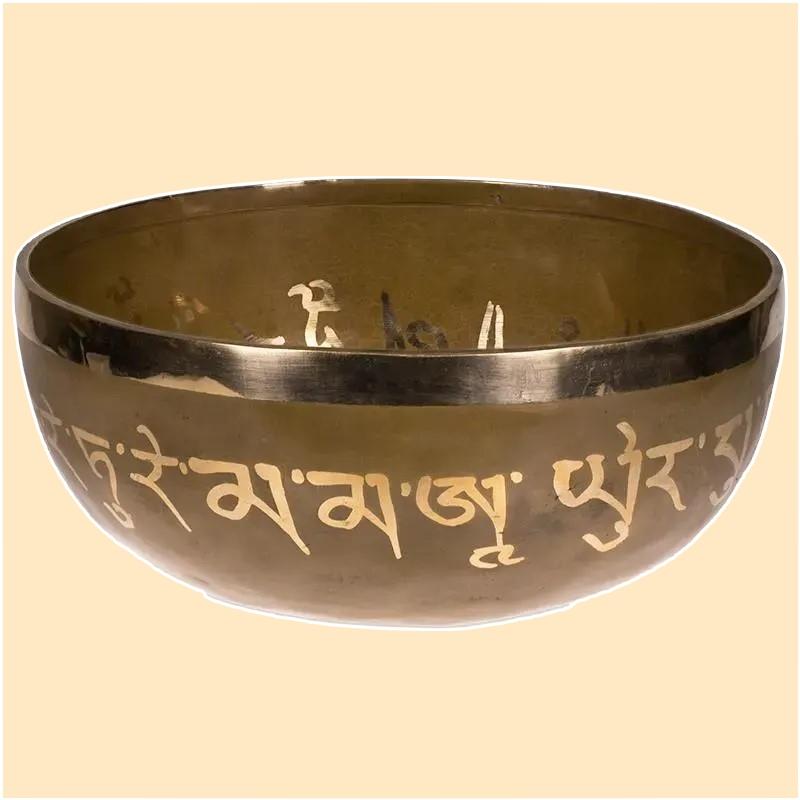 Bol chantant tibétain  Purification Tara Blanche vu de face